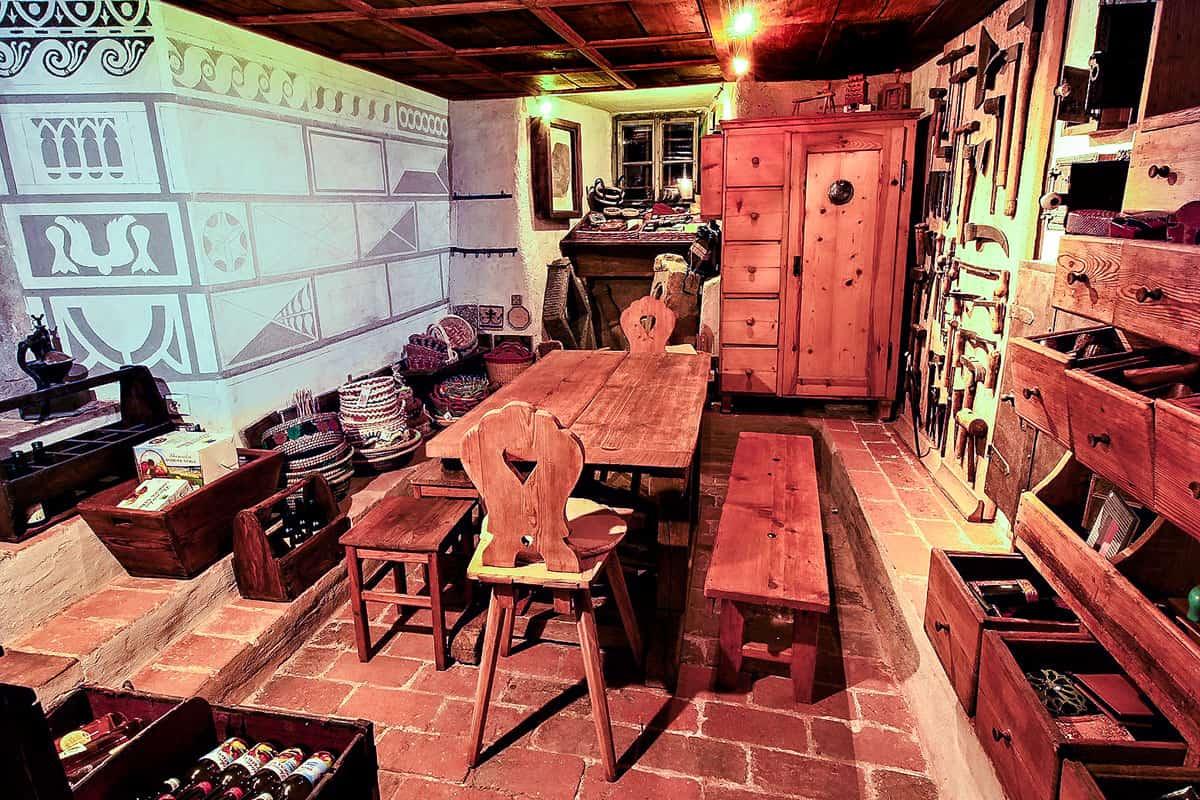 Ubytování a muzeum Český Krumlov - dolní komora