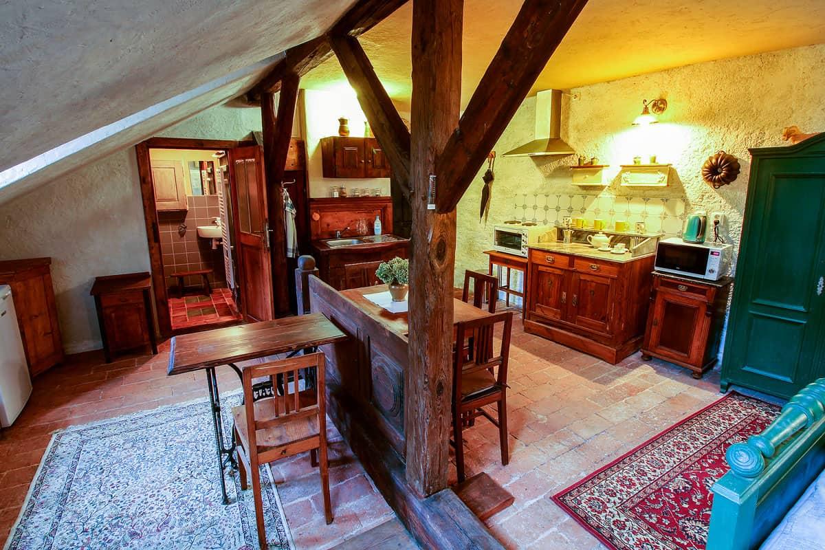 Ubytování a muzeum Český Krumlov - horní světnice