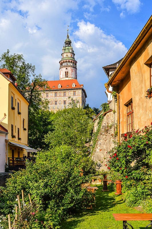 Ubytování a muzeum Český Krumlov - terasa