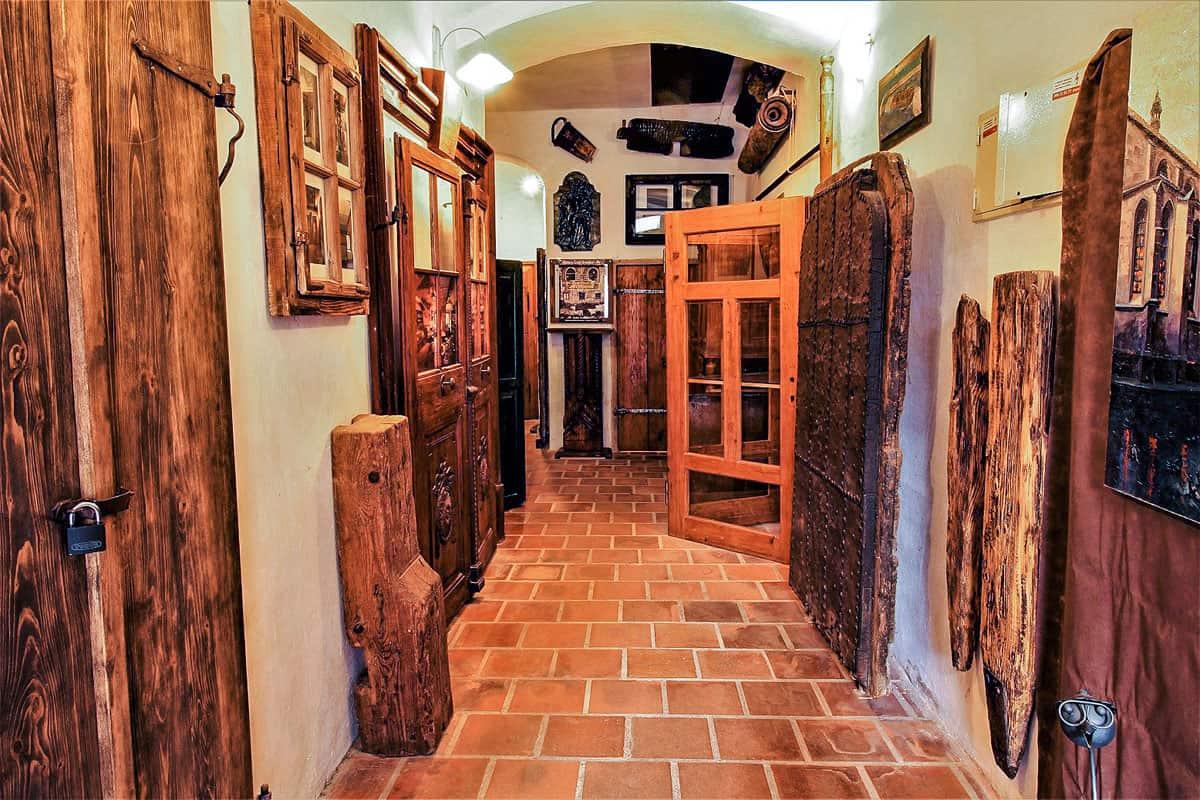 Ubytování a muzeum Český Krumlov - vstupní chodba