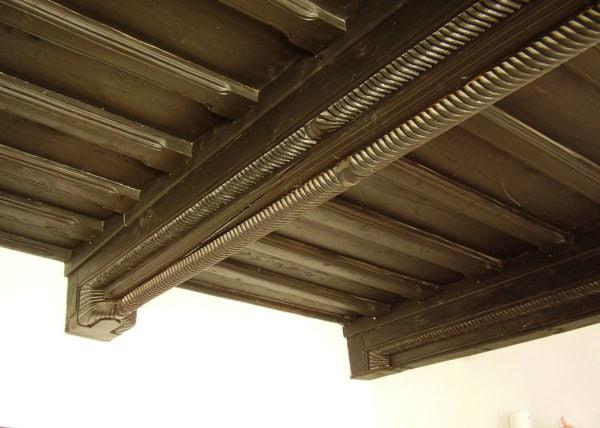Inspirační vzor,strop s pletencovými průvlaky Soukenická 36 Český-Krumlov