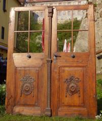 Informační panel, Dvoukřídlé dveře, Na Sadech, Č. Budějovice, barokní období