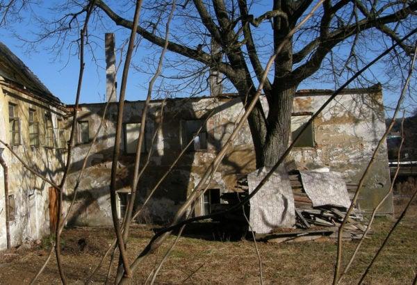 Korunni rimsa, Nova Bystrice, hospodarsky areal zamku, patrne barokní období (2)