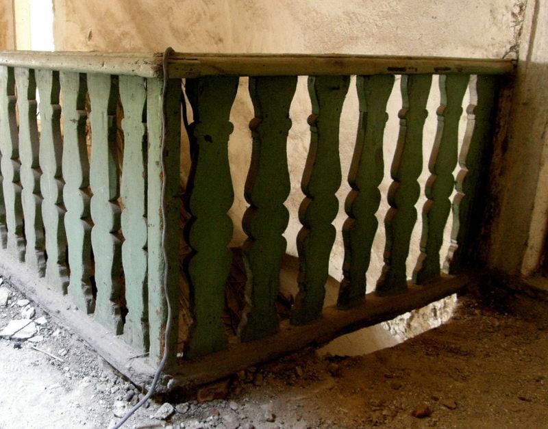 Latrán 19, původní umístění schodiště v horní síni