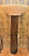 Umyvadlová noha z dřevěné vrtané trubky, Zahrádky usedlost, 19. století