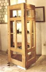 Reklamní vitrína z vyplňovaných dveří, ČK, skládka u bývalých dveří, Špičák 194, patrně - 1914