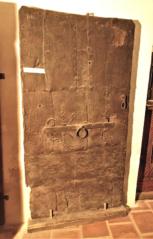 Dvouvrstvé dveře pobité železnými pláty, Světlík, skládka po požáru gotika