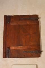 Dřevěná okenice sýpky, Budkov, patrně konec 18. století