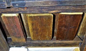 Fošny stropního záklopu, středověk, renesance