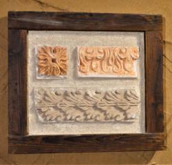 Štukova výzdoba omítaného stropního podhledu, ČK kláštery, raně barokní období