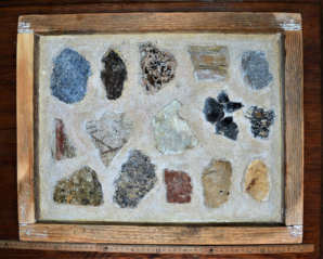 Vzorky exteriérových omítek od středověku do 20. století