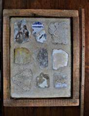 Vzorky interiérových omítek od středověku do 20. století