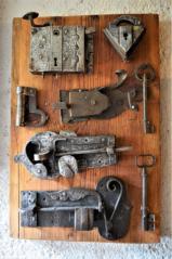 Dveřní zámky,visací zámky 18. a 19. stol.