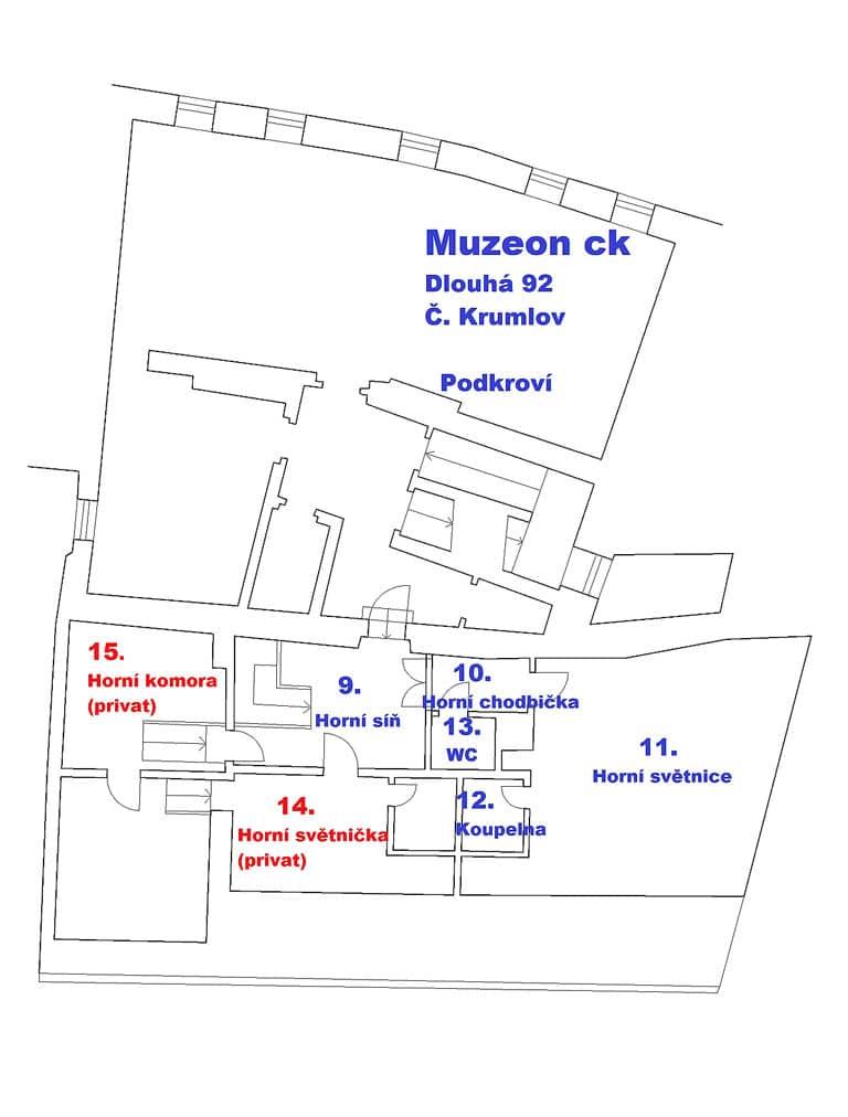 Muzeon c.k. plánek podkroví