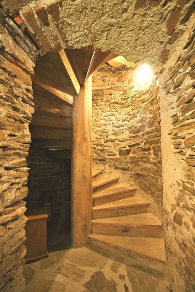 Rožmberk hrad - Jakobínka nástupní schodiště