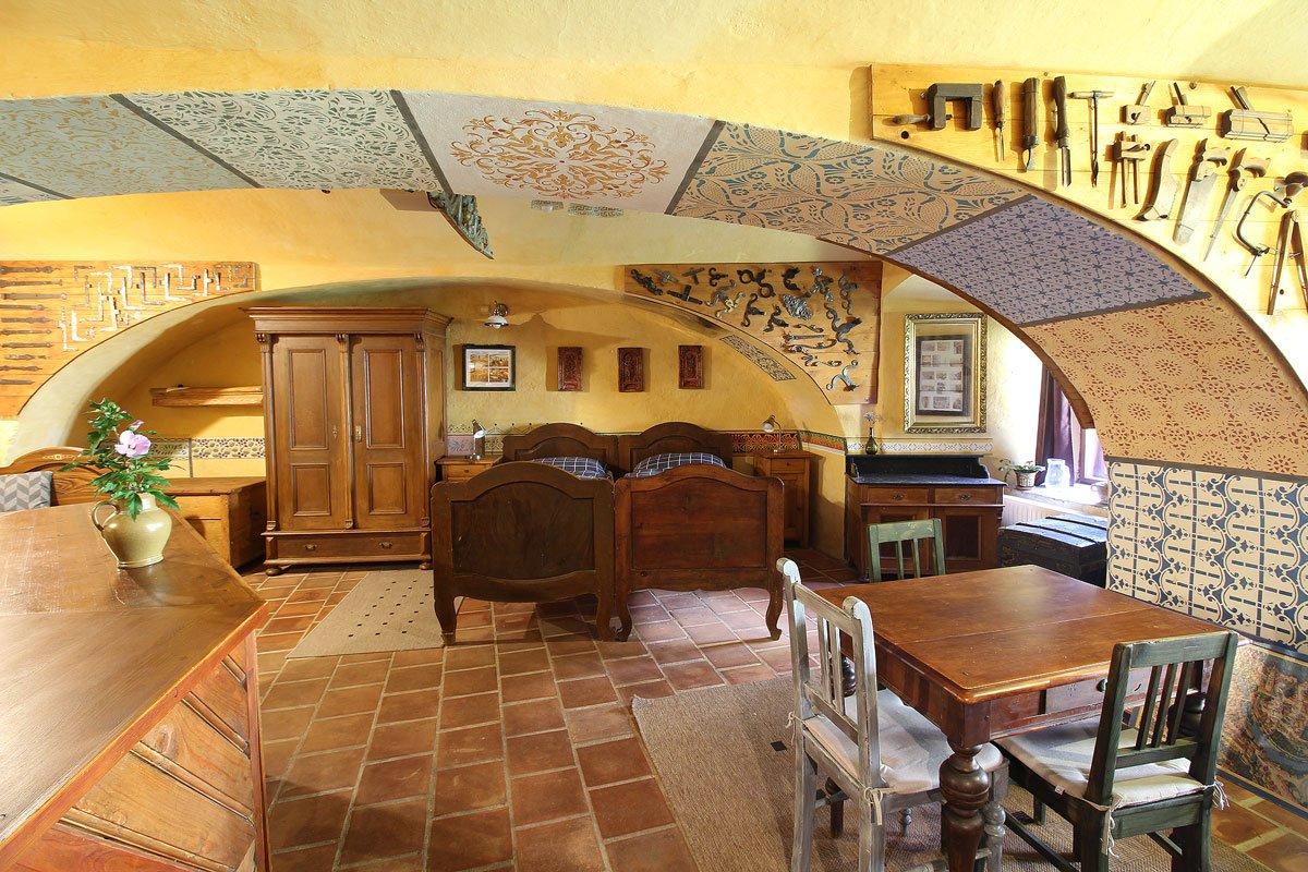 Ubytování a muzeum Český Krumlov - dolní světnice